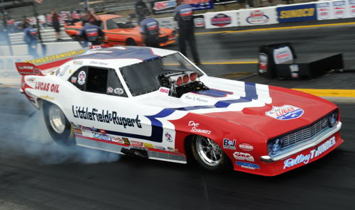 (Defending IHRA World Champion Jason Rupert roared to both low ET and top speed)