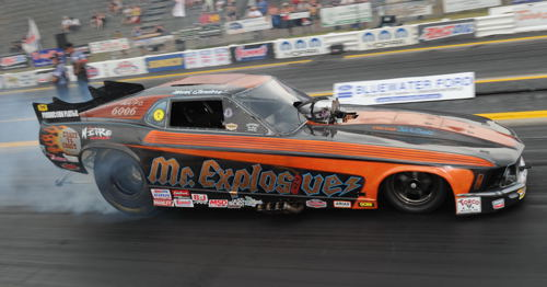 (Mark Sanders completed a successful event title defence at IHRA Grand Bend last weekend)