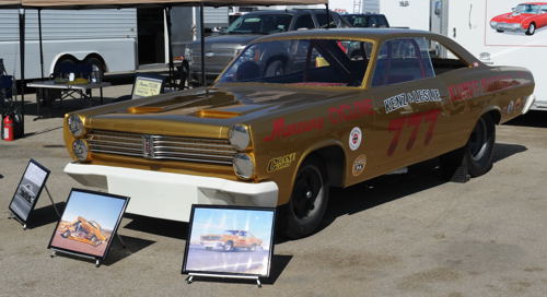 (Some truly legendary nitro Funny Cars from the past were on display at the CHRR)