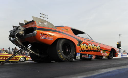 Ohio's Mike McIntire set low ET of the event a 5.549 secs during qualifying)