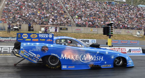 For the second consecutive NHRA event - Tommy Johnson Jr placed runner-up