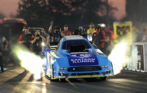 (Illinois-based racer Tim Wilkerson had a nice event effort with his new Ford Mustang - going to the semi final round)