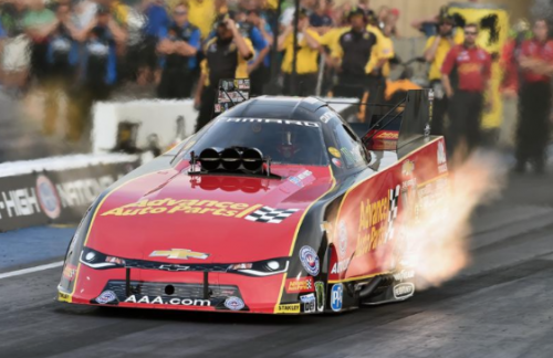 (Courtney Force reset both ends of the track records at Bandimere Speedway during FC class qualifying)