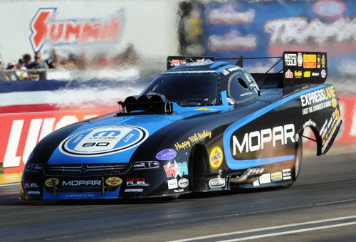 Matt Hagan qualified #1 and set both ends of the track record at 3.799 secs 338.77 mph!