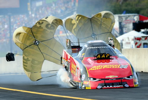 (Chevy Camaro driver Courtney Force had a strong showing - going to the FC final round)