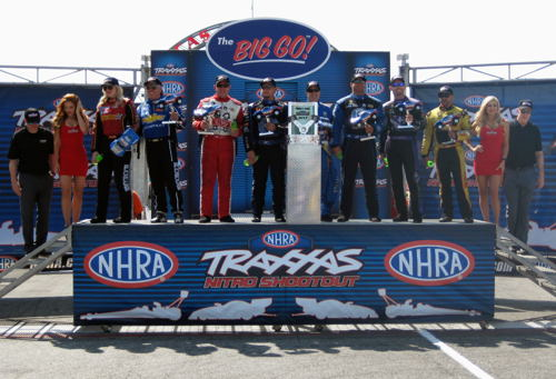 (The world's 8-best Funny Car drivers went head to head for a $100,000 first prize during the 2017 Traxxas Funny Car Shootout at Indy)