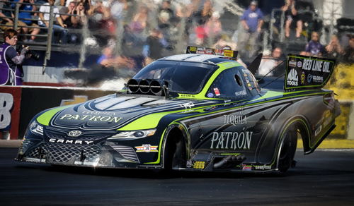 (Alexis Dejoria ended her NHRA Funny Car career at Pomona with a send round finish)