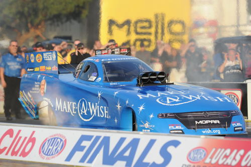 (Tommy Johnson Jr triumphed for the 2nd year in a row at NHRA's AAA Auto Club Finals)