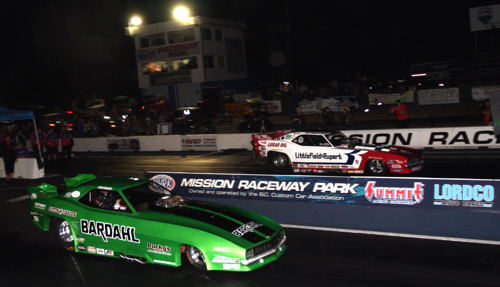 (Bobby Cottrell and Jason Rupert produced the quickest and fastest side-by-side racing in NHRA Hot Rod Heritage Series history during the final round)